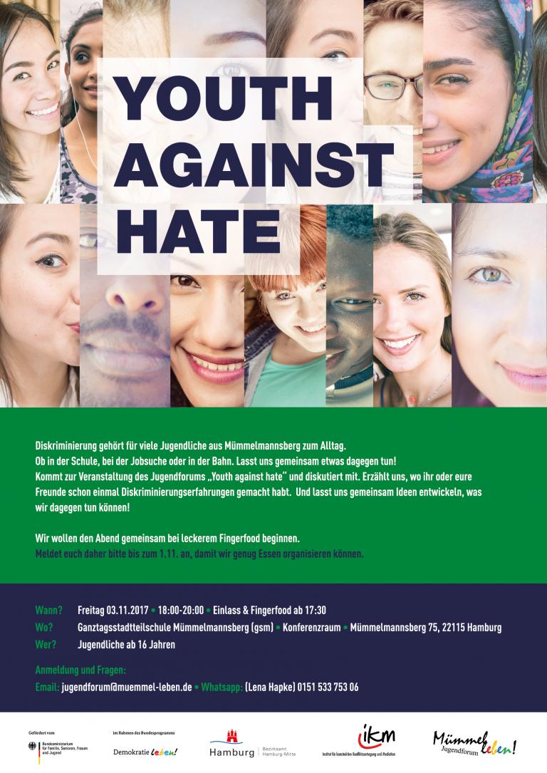 Youth against hate – Eine Diskussionsveranstaltung zu Diskriminierung