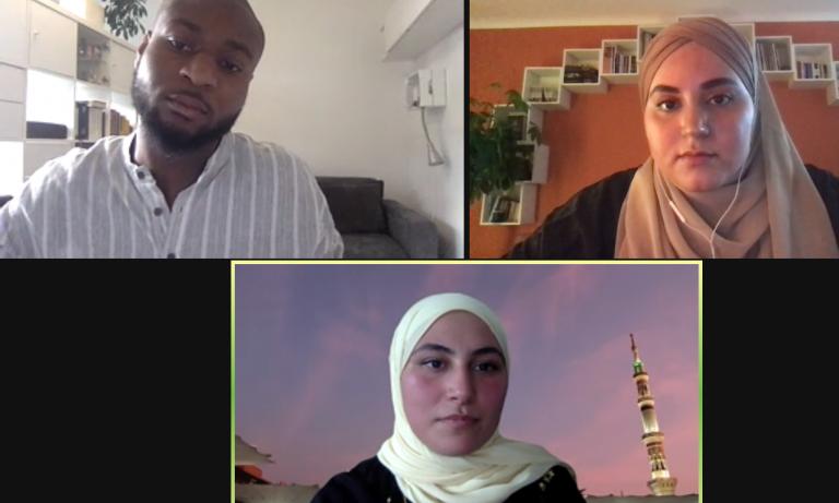 """""""Medien gelten als Spiegelbild der Gesellschaft, aber die Redaktionen heutzutage spiegeln nicht die Gesellschaft wider"""" Diskussionsrunde mit Nour Khelifi"""